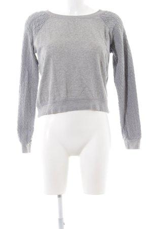 BlendShe Sweat Shirt light grey flecked casual look