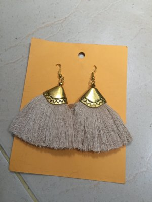 Dangle cream-gold-colored