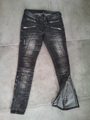 BLESSED & CURSED 422 Skinny Biker Jeans Stretch Gr.25