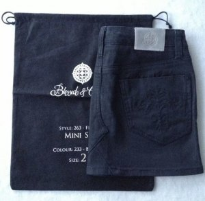 Blessed & Cursed Jeans Rock, Minirock, 25, 34, XS schwarz