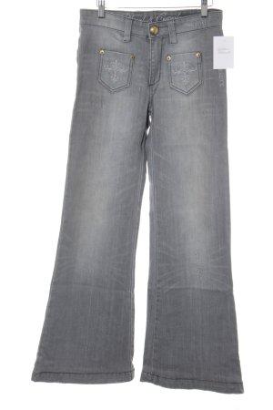 Blessed & Cursed Jeans a zampa d'elefante grigio chiaro