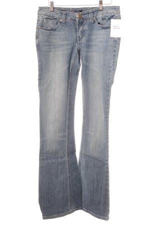 Blessed & Cursed Jeans a zampa d'elefante azzurro aspetto di seconda mano