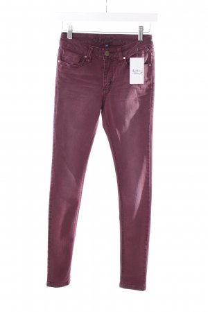 Blessed & Cursed Skinny Jeans blackberry-red casual look