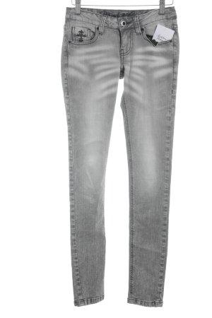 Blessed & Cursed Skinny jeans grijs-donkergrijs kleurverloop casual uitstraling