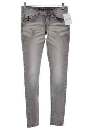 Blessed & Cursed Jeans skinny grigio look pulito