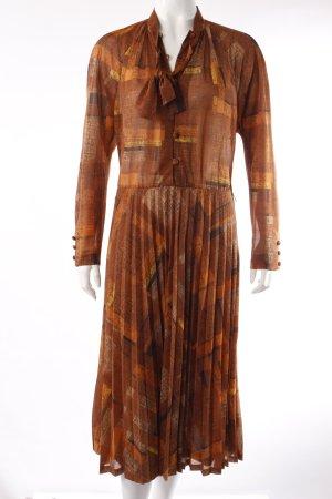 Bleyle Vintage Blusenkleid braun gemustert