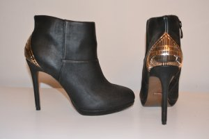Blink Platform Booties black leather