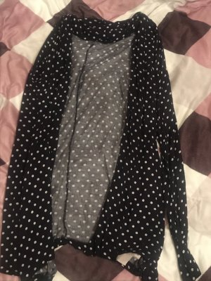 Blind Date Cardigan wit-donkerblauw