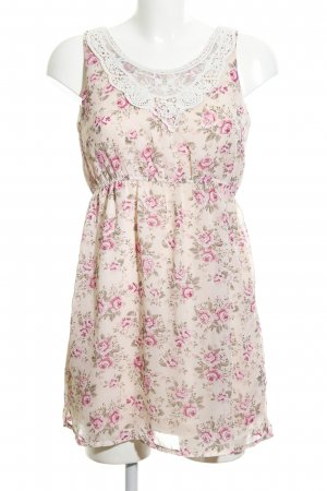 Blind Date Chiffonkleid pink-creme Blumenmuster Casual-Look