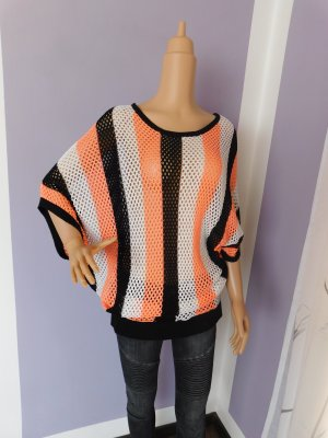 Blind Date Short Sleeve Knitted Jacket multicolored