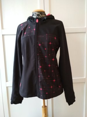 Blind Date Veste softshell noir-rose