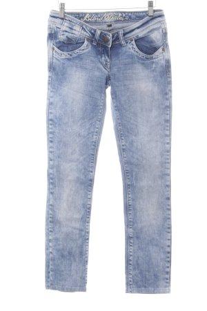 Blind Date Röhrenjeans kornblumenblau Jeans-Optik