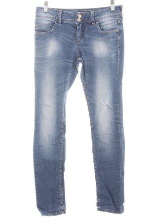 Blind Date Skinny Jeans blau-weiß Casual-Look