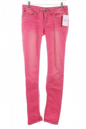 Blind Date Slim Jeans pink Washed-Optik