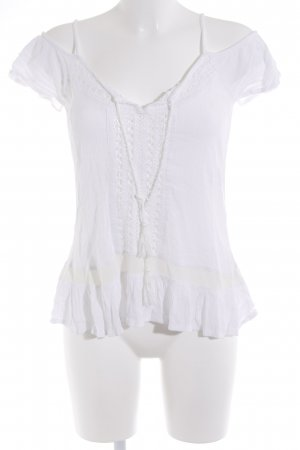 Blind Date Lace Top white beach look