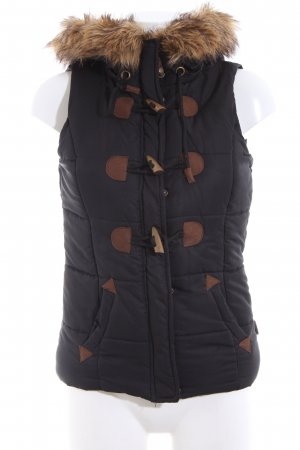 Blind Date Quilted Gilet black-brown quilting pattern casual look