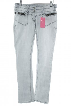 Blind Date Straight-Leg Jeans hellgrau Casual-Look