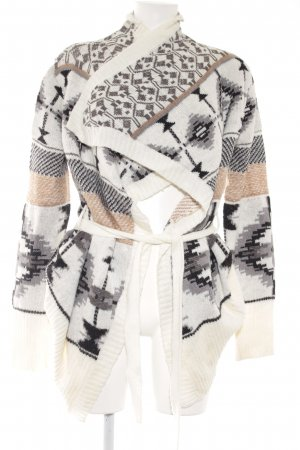 Blind Date Cardigan abstract pattern casual look