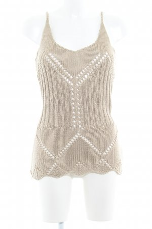 Blind Date Knitted Top beige casual look