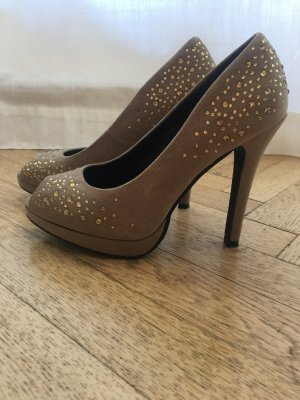 Bling bling High Heels in Farbe Nude