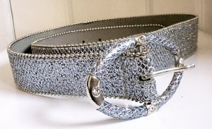 C&A Waist Belt silver-colored synthetic material