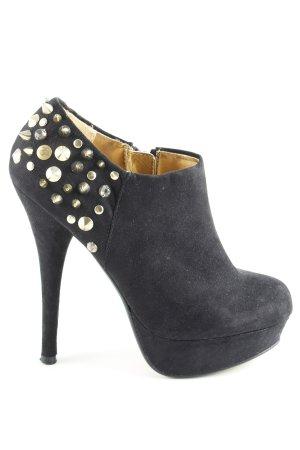 Blink Booties schwarz-goldfarben extravaganter Stil
