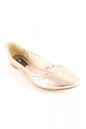 Blink Foldable Ballet Flats nude wet-look