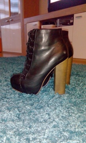 Blink Platform Booties black-brown