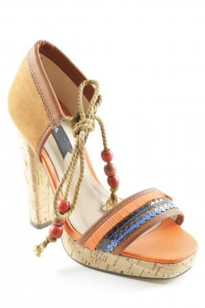 Blink High Heel Sandal multicolored Aztec print