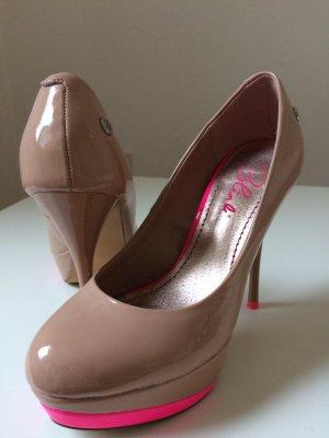 Blink High Heels Nude mit Pink