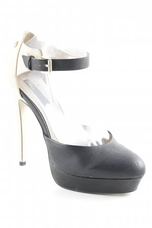 Blink High Heels schwarz-beige Party-Look