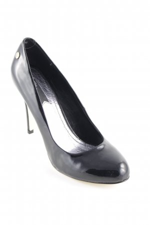 Blink High Heels schwarz Lack-Optik