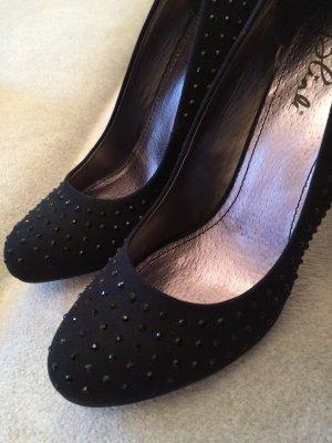 Blink High Heels schwarz mit Steinen Gr. 40