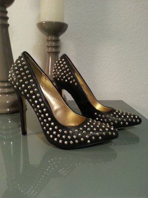 Blink High Heels black-gold-colored
