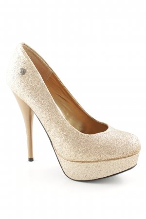 Blink Plateau-Pumps roségoldfarben-goldfarben Glanz-Optik