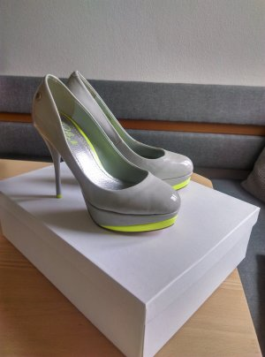 Blink Platform Pumps grey-neon yellow