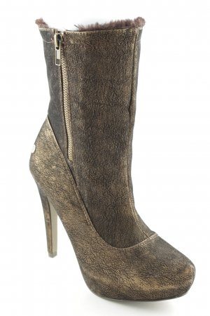 Blink Zipper Booties bronze-colored-gold-colored extravagant style