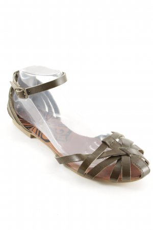 Blink Strapped Sandals green grey Aztec print