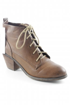 Blink Lace-up Booties brown classic style