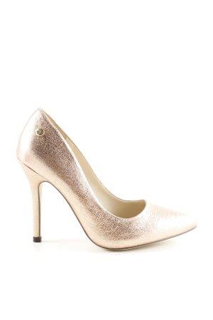 Blink Spitz-Pumps goldfarben Elegant