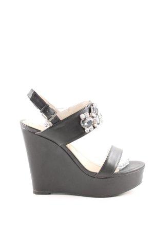 Blink Wedges Sandaletten schwarz Casual-Look