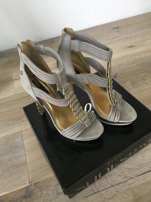 Blinkshoes in grau Gold