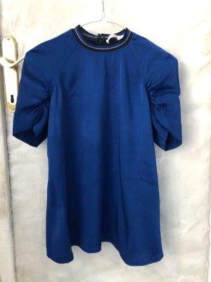 blitzblaue Bluse