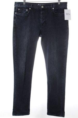 Blk dnm Jeans 7/8 bleu foncé style décontracté