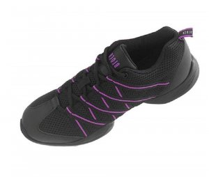 Bloch Lace-Up Sneaker black-lilac