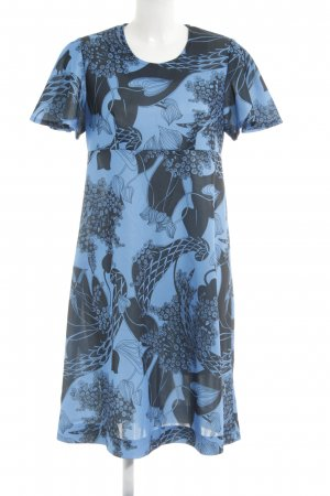 Bloch A Line Dress neon blue-black abstract pattern casual look