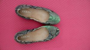 Bloch Ballerinas Snake Grau Grün Schlange Leder 37.5