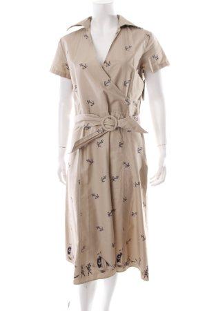 Bloch Blusenkleid beige-dunkelblau Motivdruck Marine-Look