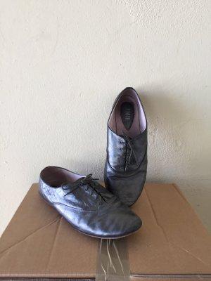 Bloch Schnürschuhe aus Metallic-Leder