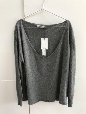 Blogger Anine Bing Pullover mit V-Ausschnitt Grau Melange Gr. 36 / S - NEU mit Etikett!
